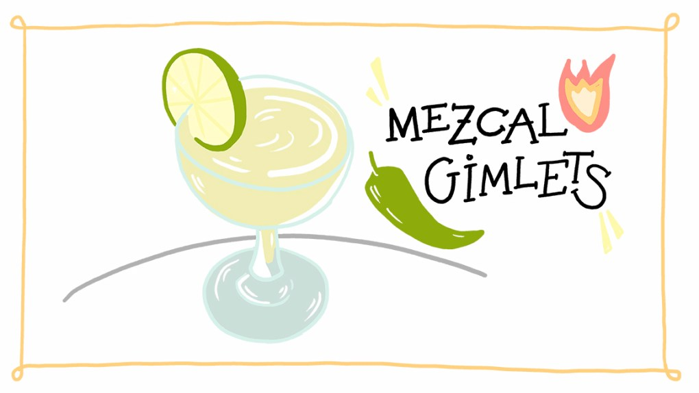 ImageThink's recipe for a Mezcal Gimlet cocktail, concocted during isolation and social distancing.