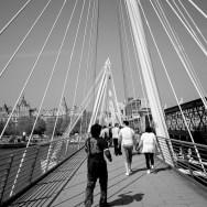 on a bridge in London