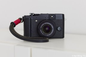 Fujifilm X10 with Gordy's wrist strap and Artisan & Artist shutter release button