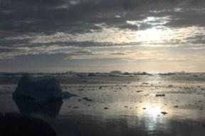 The sunset in Ilulissat