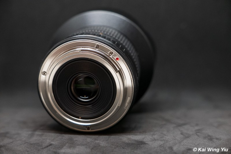 Samyang 14mm f/2.8 rear view