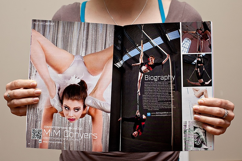 Image Workshop - Damaged Duo images published in Contortionists Unite! magazine
