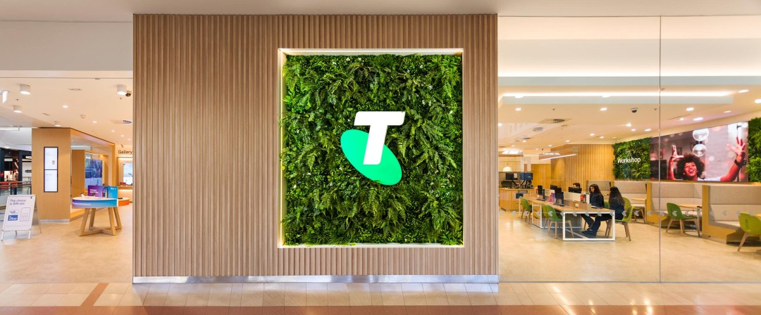 Telstra green wall installation by Garden Beet, photographed by Image Workshop in Melbourne