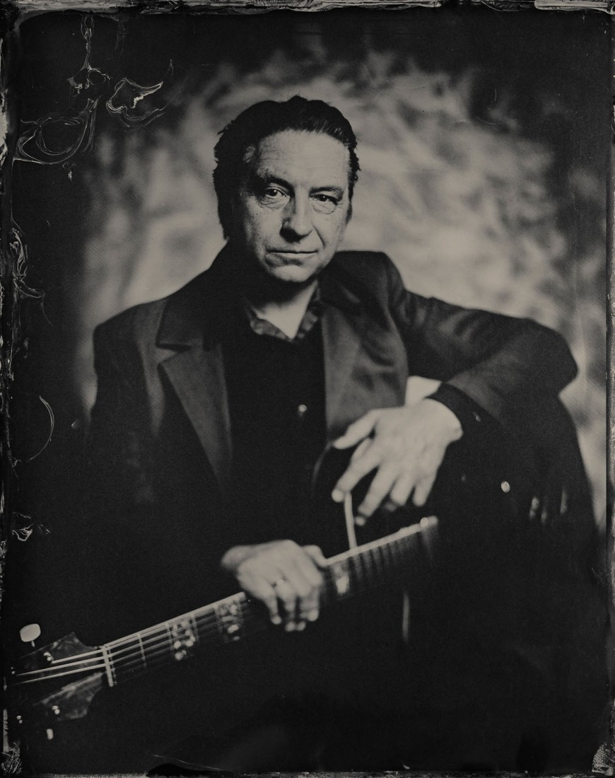Rich Webb - Wet Plate Collodion (Tintype) Portrait by Melbourne photographer Brence Coghill
