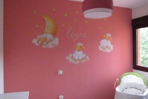 Ambientando la habitación de Leyre…