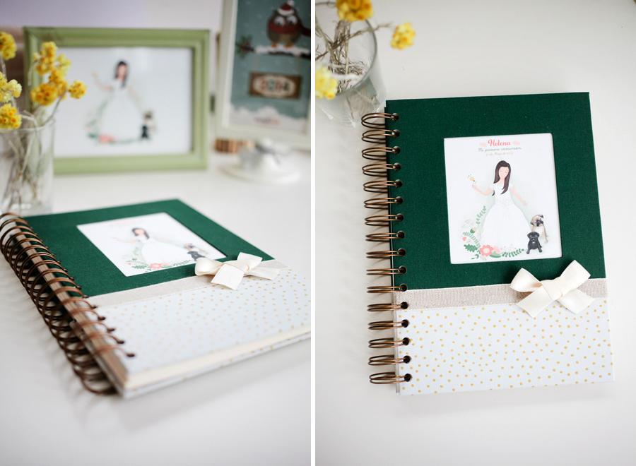 Libro de firmas ilustrado para niña comunión