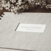 libro de firmas, boda, gris, donostia, gipuzkoa
