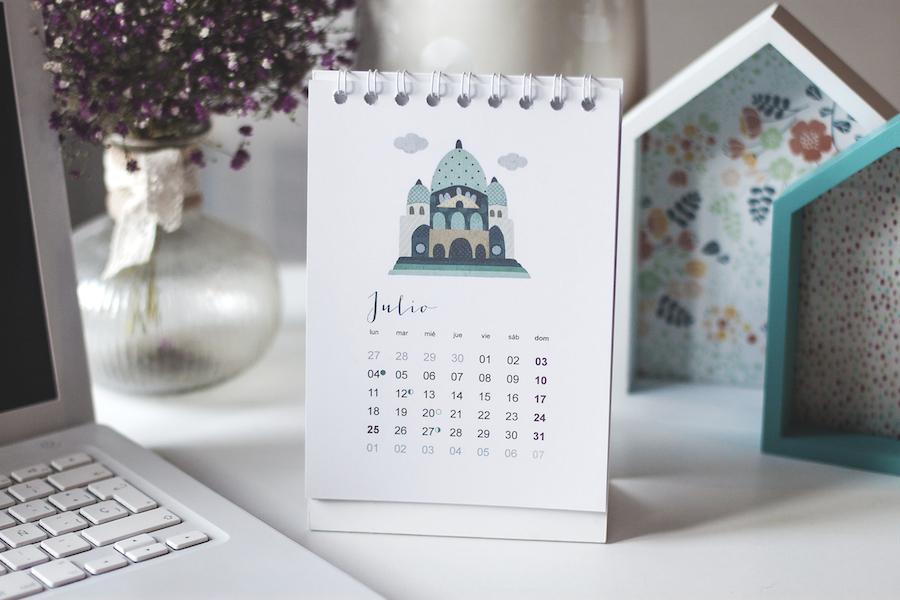 Calendario 2016, la vida en paris, ilustración, illustration, donostia gipuzkoa