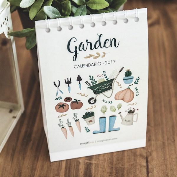 calendario de mesa 2017 Garden