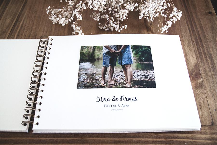 libro de firmas para boda personalizado con logotipo impreso