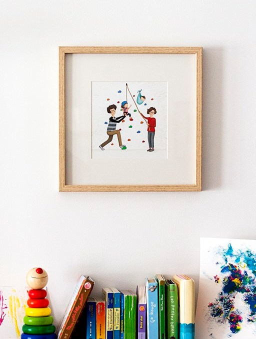 ilustración personalizada familia