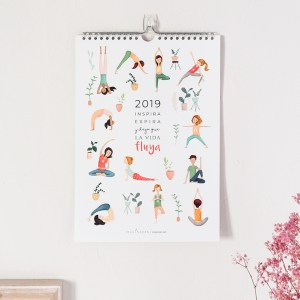 Calendario de pared 2019 Yoga