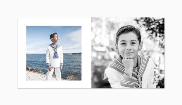 Recordatorio de comunión para niño con foto