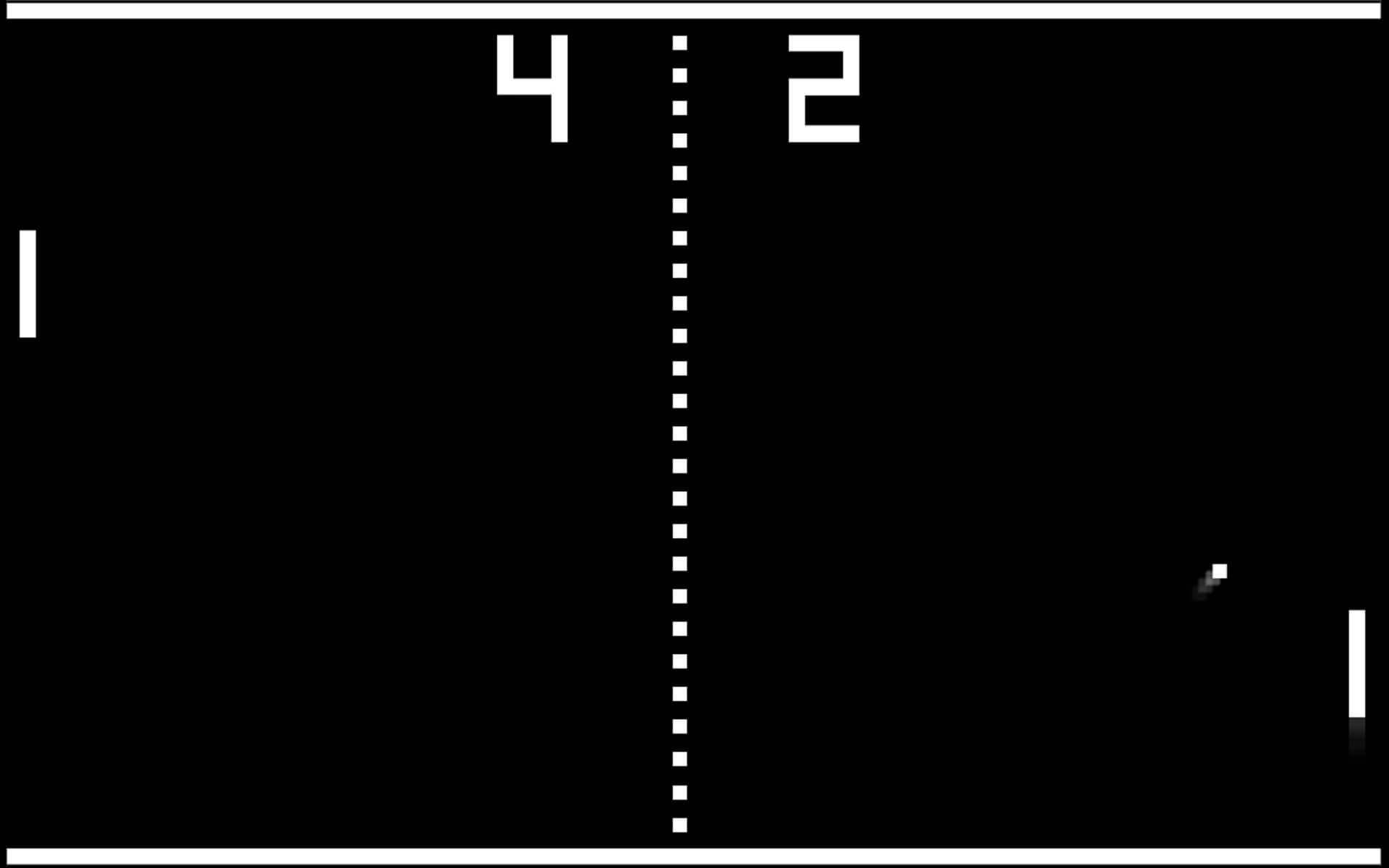 Screenshot from Pong, a tennis game