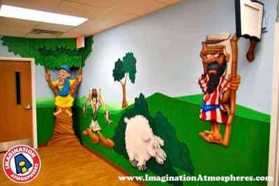 3-D bible story murals