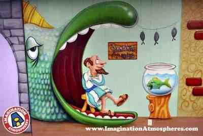 cartoon bible story murals 2