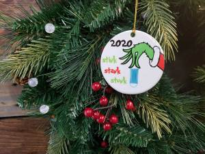 Ceramic Christmas Ornament - Stink Stank