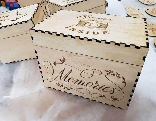 Photo Memory Box Engraved