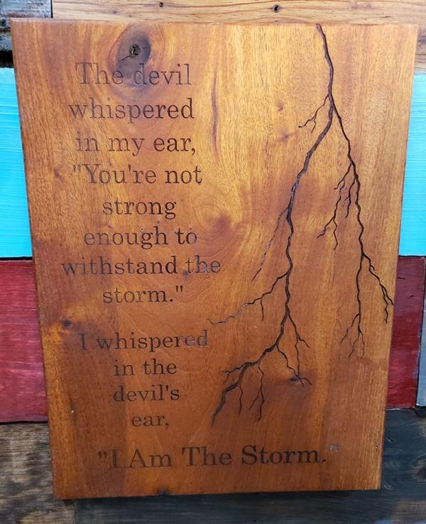 Storm Custom Engraved Sign