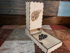 Flaming Dice Tower + Tray