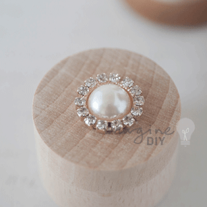Crystal & Pearl Round Rose Gold, crystal, decorative, embellishment, pearl, wedding invitation, Wedding Stationery