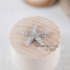 Crystal Starfish Miniature, small crystal starfish. Perfect for destination beach theme wedding. DIY wedding stationery and invitation supplies. Paper crafts and card making