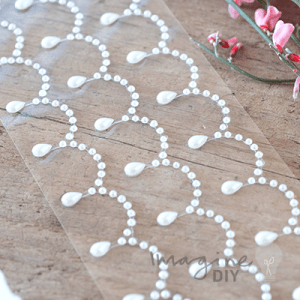 decorative self adhesive pearl stickers. Pretty row of decorative pearls to stick on wedding invitations