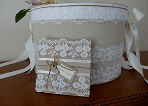 DIY Wedding competition Trade Fortnum and Mason winner Jacquie hat box