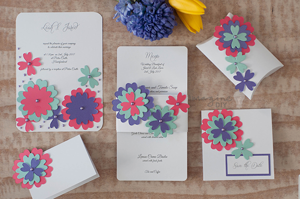 Colour Pop Wedding Stationery DIY Wedding Stationery