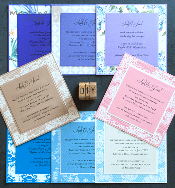 how to make simple wedding invites