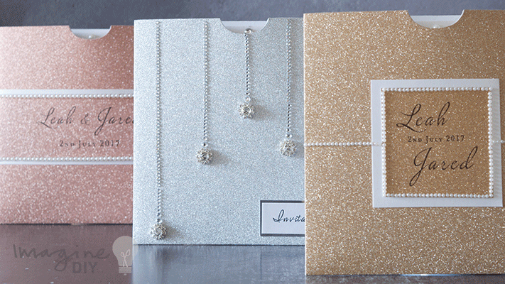 Make 3 Different Sparkly Pocket Invites