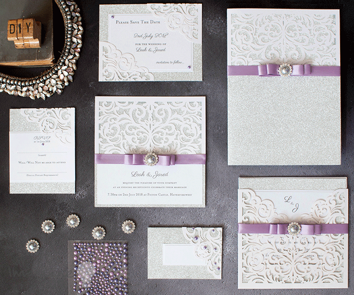How to make your own laser cut wedding stationery. DIY wedding stationery ideasd