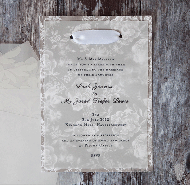 how to make wedding invitation with diamoties