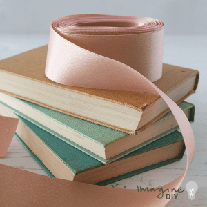 38mm rose gold ribbon. Wide ribbon in rose gold sparkle. Pretty ribbon for decorating wedding stationery and invitaitons