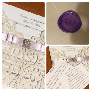 DIY laser cut wedding invitations made by Amie Hunter