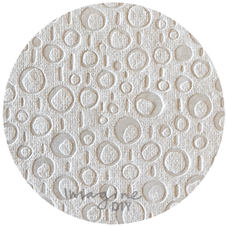 abstract circles white embossed paper. Contemporary embossed paper. Modern print paper for decorating wedding invitations and diy wedding stationery. Art and craft supplies.