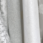 lustre and glitter papers for wedding invitations and save the date cards.