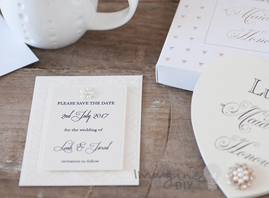how to make a save the date card
