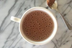 Creamy chocolate coffee (dairy free)