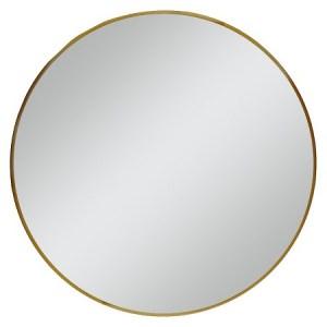 Round Brass Mirror Image