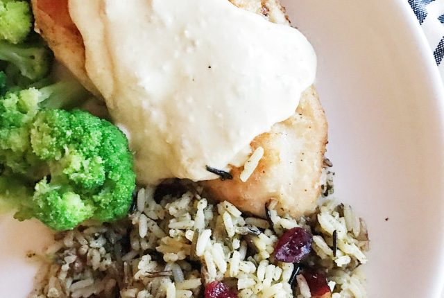 Creamy Chicken and Cranberry Pecan Wild Rice