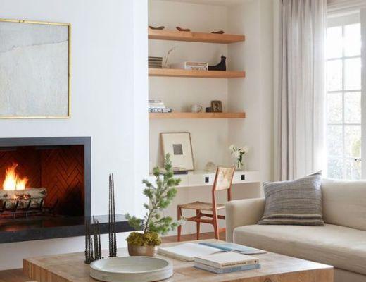 California casual farmhouse living room designed by M Elle Design