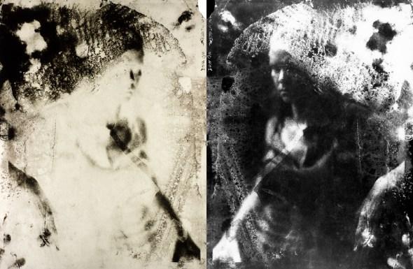 Retrato em Calótipo (negativo de papel) úmido
