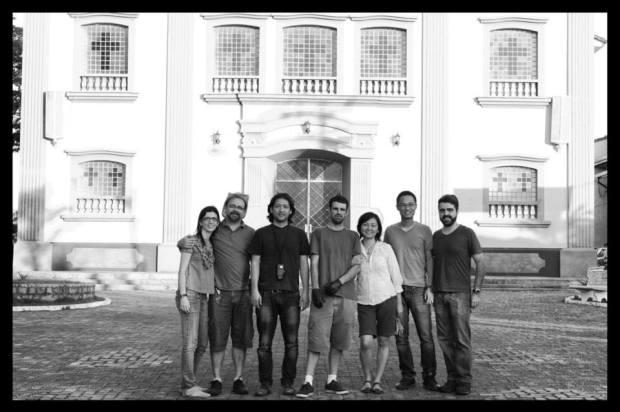 O time dos ambrótipos (esq-dir): Marcela Porcelli, Waldir Salvadore, Roger Sassaki, Fernando Fortes, Suzana Oguro, Paulo, Luiz Marinho. 8/09/2013. De Luiz Marinho.