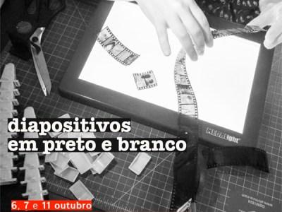 Em Belém! Diapositivos em preto e branco com Simone Wicca e Roger Sassaki