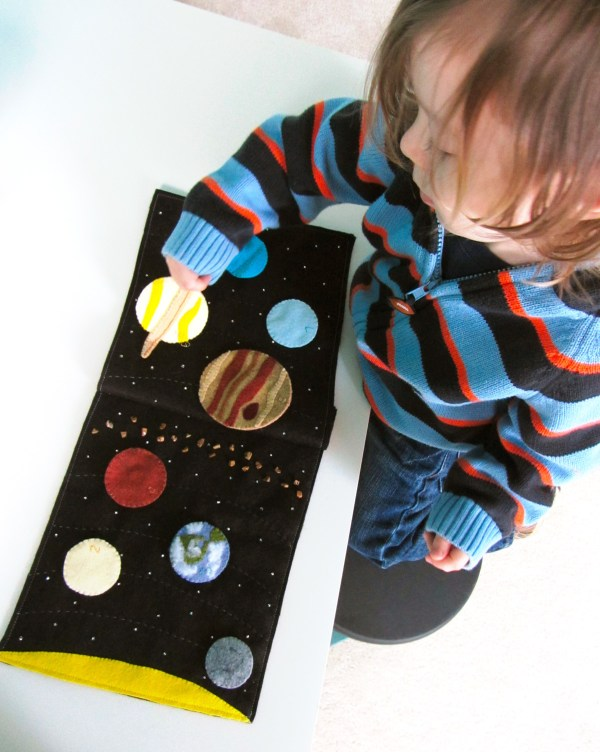 Solar System Quiet Book Page Imagine Our Life