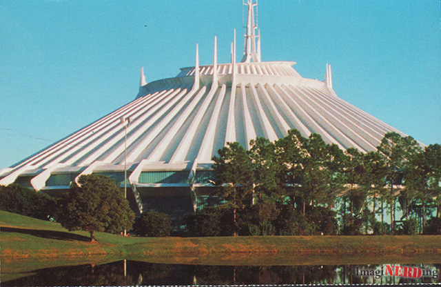 space mountain magic kingdom postcard