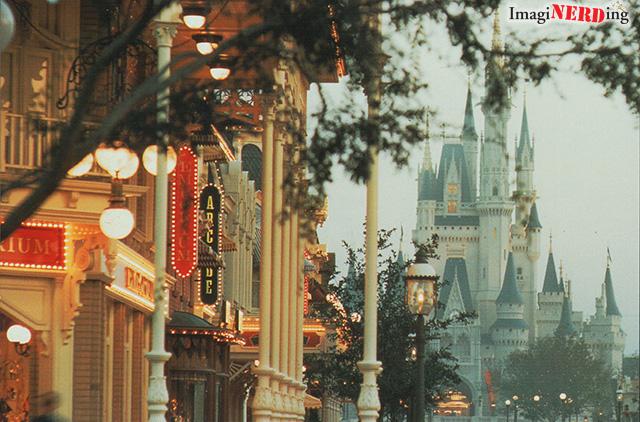 magic kingdom Disney postcard cinderella castle Main Street
