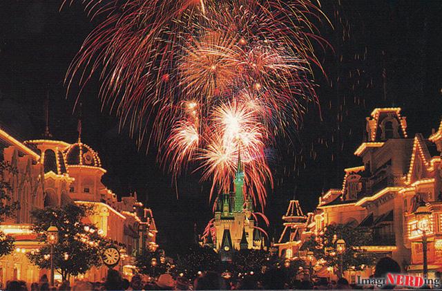 fantasy in the sky magic kingdom Disney postcard
