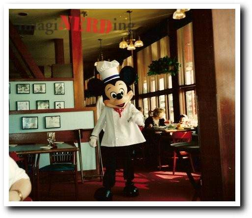 disney character dining history